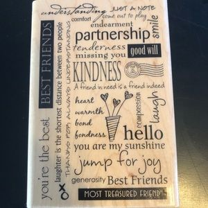 Rubber Stampede Large Friendship Quotes Stamper